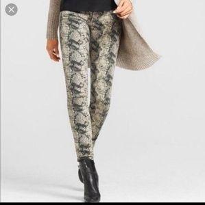 Cabi Straight Leg Snake Print Jeans